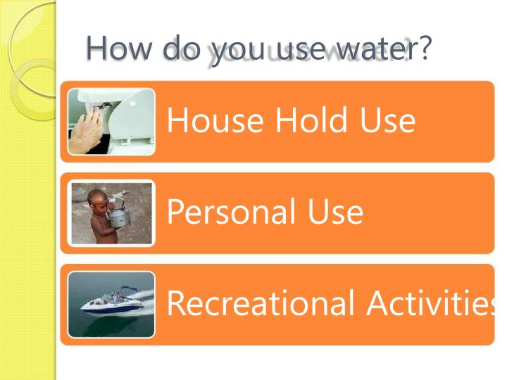 How do you use water?