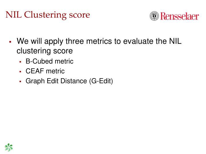 NIL Clustering score