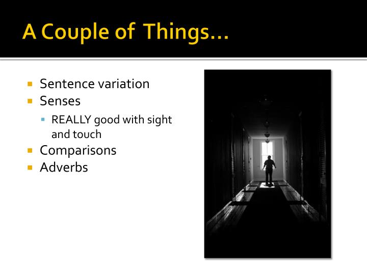 A couple of things