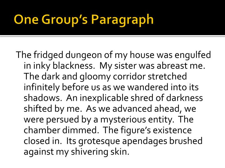 One group s paragraph