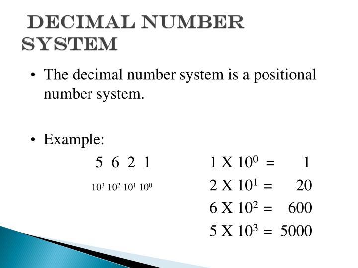 Decimal Number System