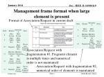 management frame format when large element is present