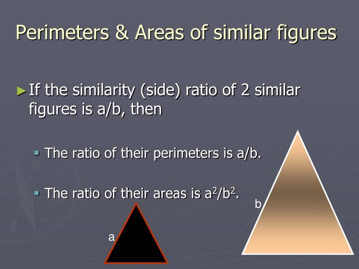 Perimeters areas of similar figures