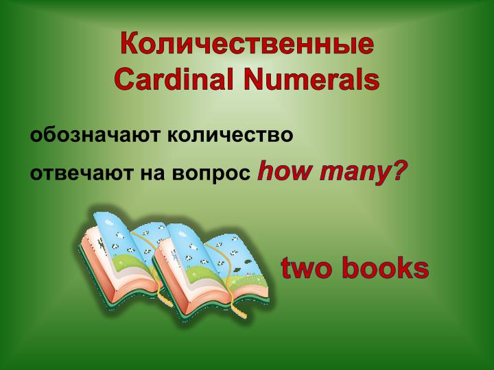 Cardinal numerals