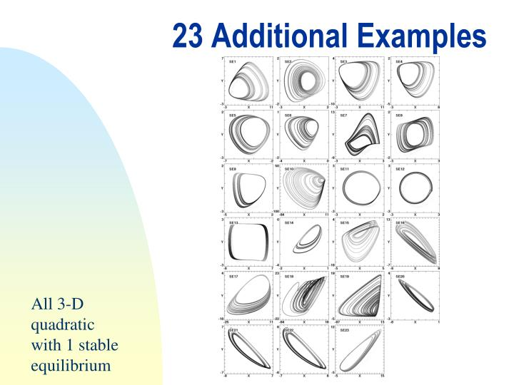 23 Additional Examples