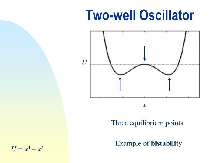 Two-well Oscillator
