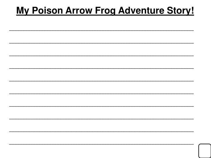 My Poison Arrow Frog Adventure Story!