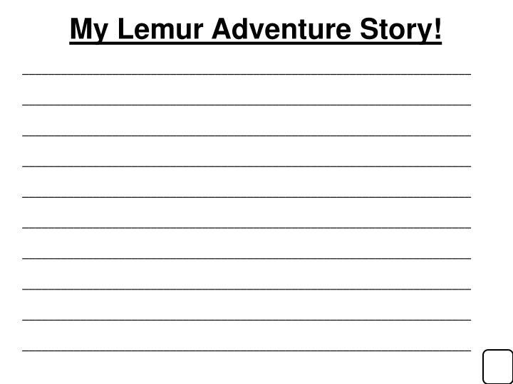 My Lemur Adventure Story!