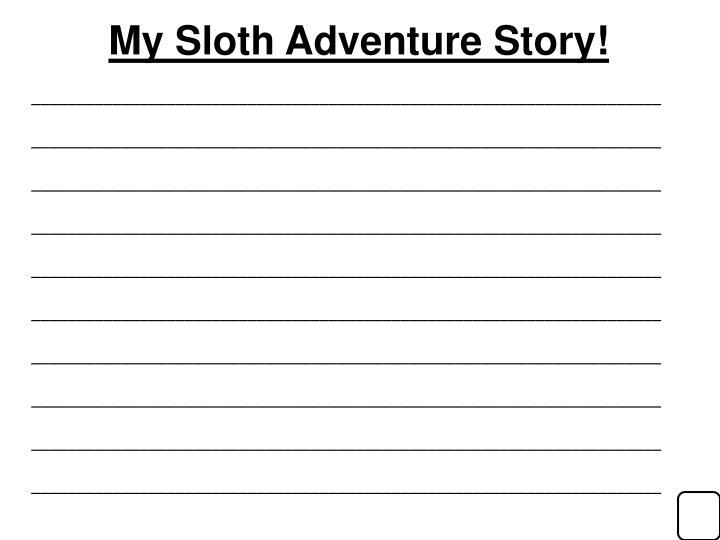 My Sloth Adventure Story!