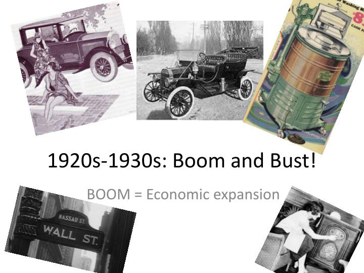 1920s 1930s boom and bust n.