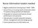 n urse information leaders needed