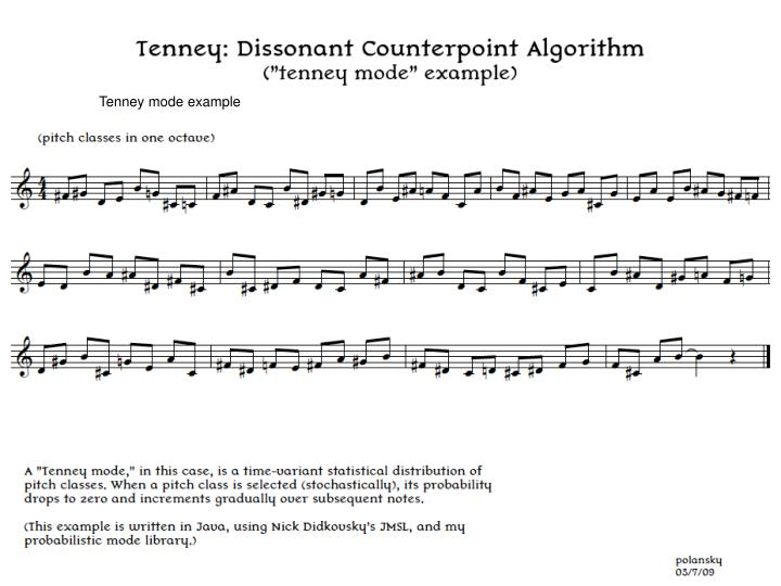 Tenney mode example