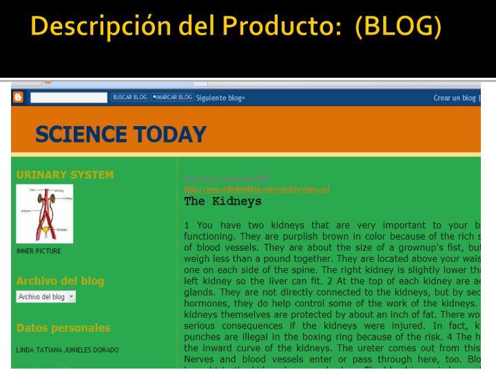 Descripci n del producto blog
