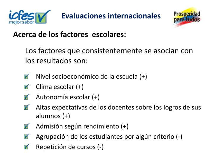 Evaluaciones internacionales