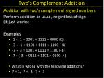 two s complement addition