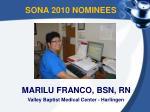 sona 2010 nominees