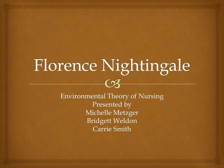 nightinales theory and implications to nursing Nightingale's philosophy of nursing practice still rings loud and clear today and will most likely continue to influence nursing and healthcare alike it seems to me that she would want nothing more than for us to enhance and build on her theory, thereby honoring the nursing profession, and exceeding the mark of her philosophical legacy.