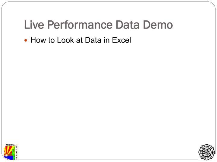 Live Performance Data Demo
