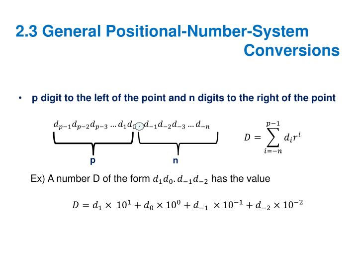 2.3 General Positional-Number-System