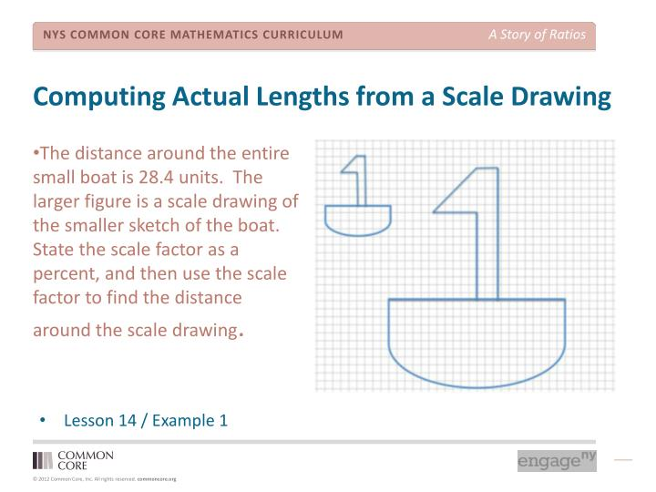 Computing Actual Lengths from a Scale Drawing