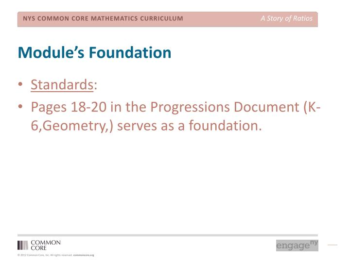 Module's Foundation