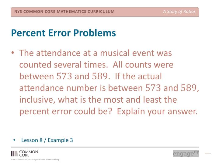Percent Error Problems