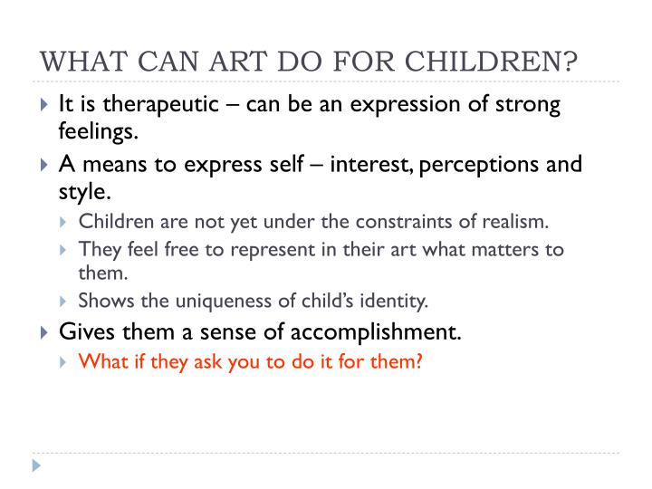 What can art do for children