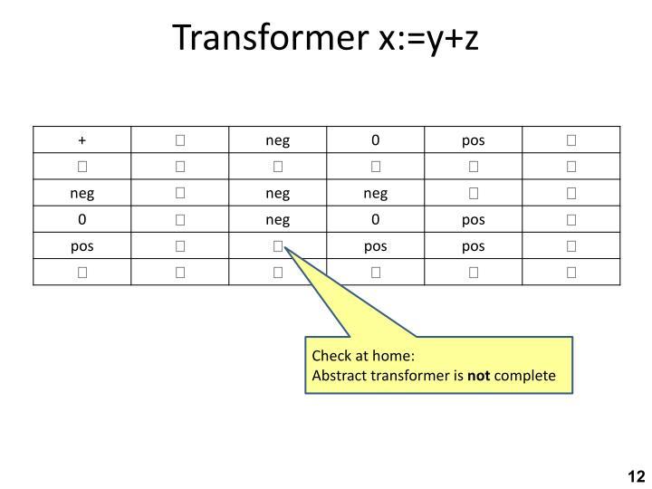 Transformer x:=