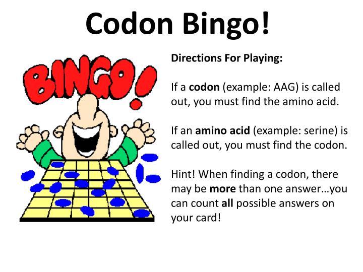 Codon Bingo!
