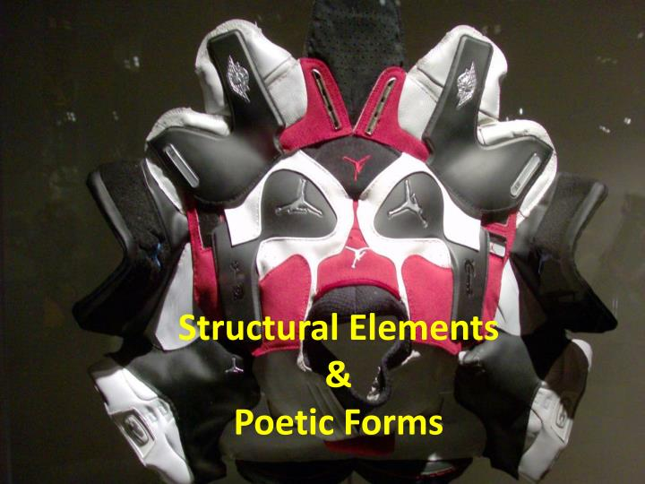 Structural elements poetic forms