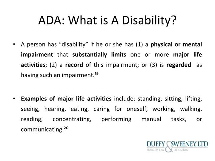 ADA: What is A Disability