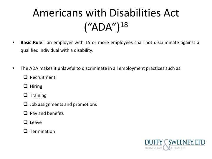 "Americans with Disabilities Act (""ADA"")"