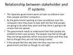relationship between stakeholder and it systems