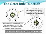 the octet rule in action