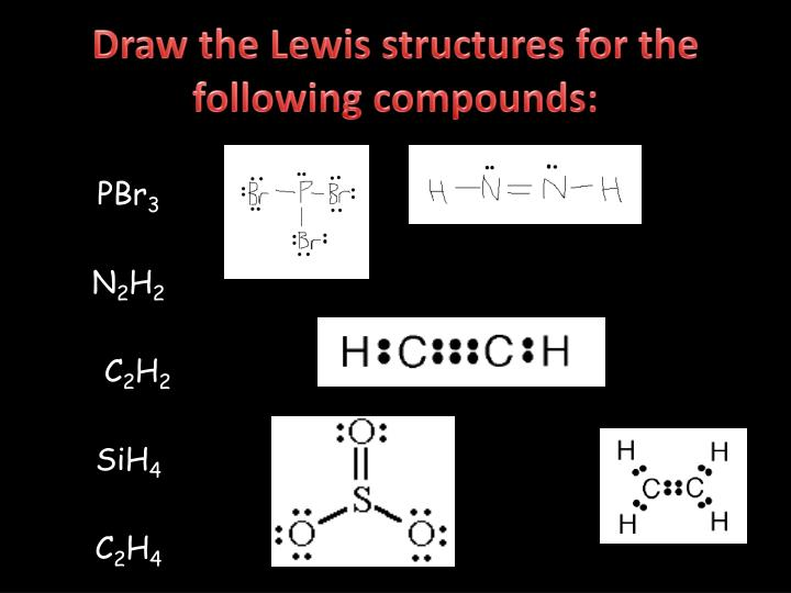 Draw the Lewis structures for the following compounds: