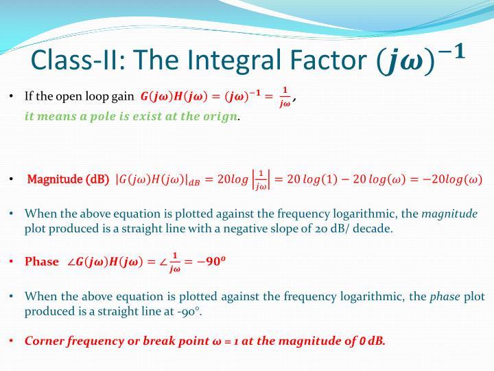 Class-II: The Integral Factor