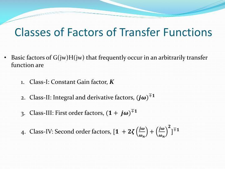 Classes of