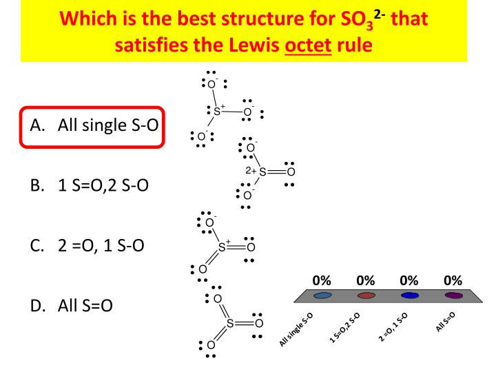 Which is the best structure for so 3 2 that satisfies the lewis octet rule