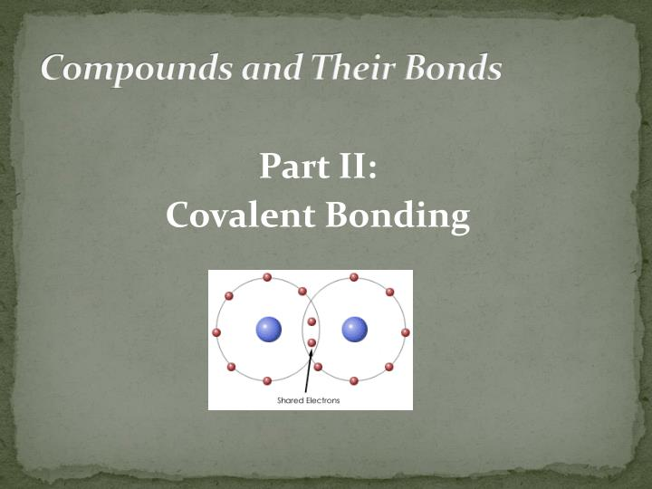 compounds and their bonds n.