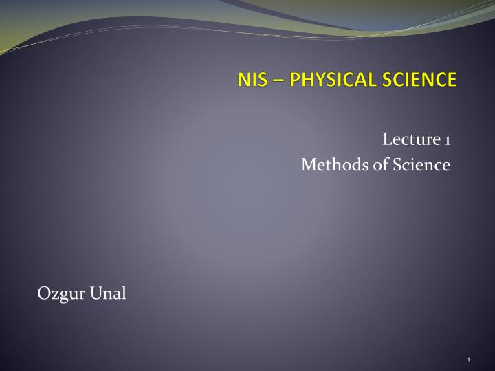 Nis physical science