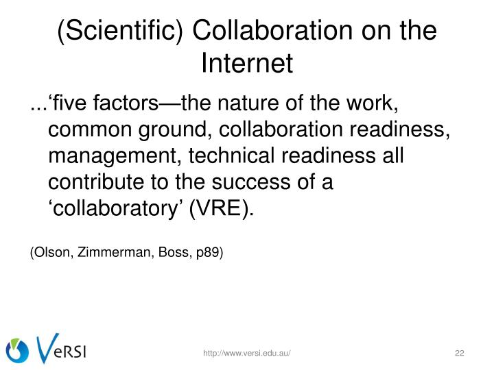 (Scientific) Collaboration on the Internet