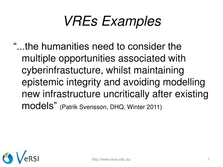 VREs Examples