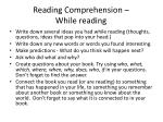 reading comprehension while reading
