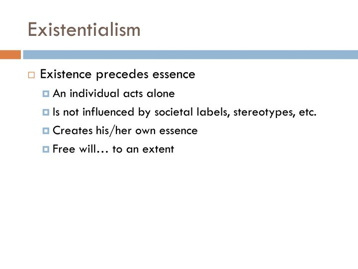 jean paul sartres existentialist views how everyone creates his own essence Is jean-paul sartre's atheist-existentialism a valid answer to the question of existence preceding essence  existentialist insight that man creates his own .