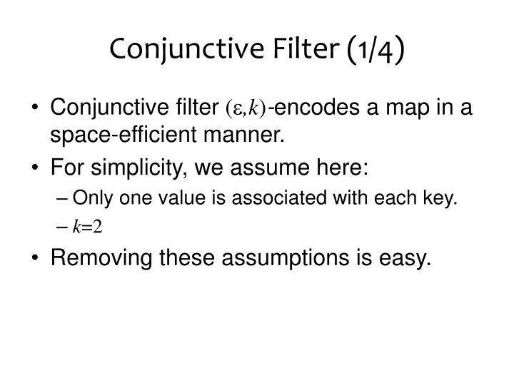Conjunctive Filter (1/4)