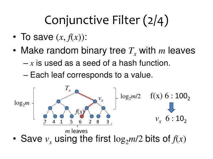 Conjunctive Filter (2/4)