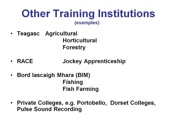 Other Training Institutions