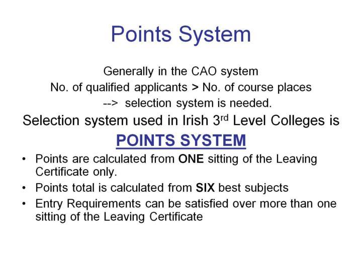Points System