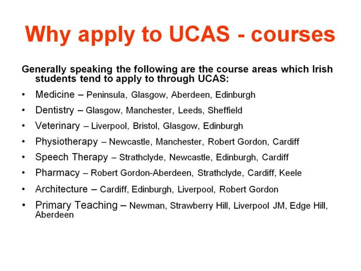 Why apply to UCAS - courses