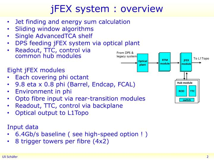 Jfex system overview